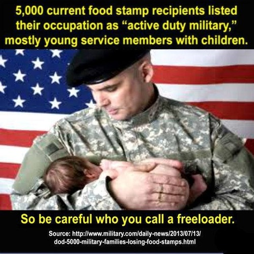 ... -OLD US VETERAN: I AM ON FOOD STAMPS BECAUSE I ENJOY NOT STARVING